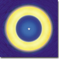 The spiritual eye as seen in deep meditation.